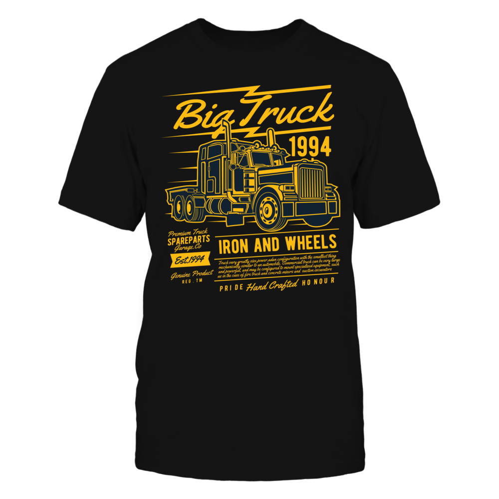 TShirt Hoodie Big Truck 2 2 - Black FanPrint
