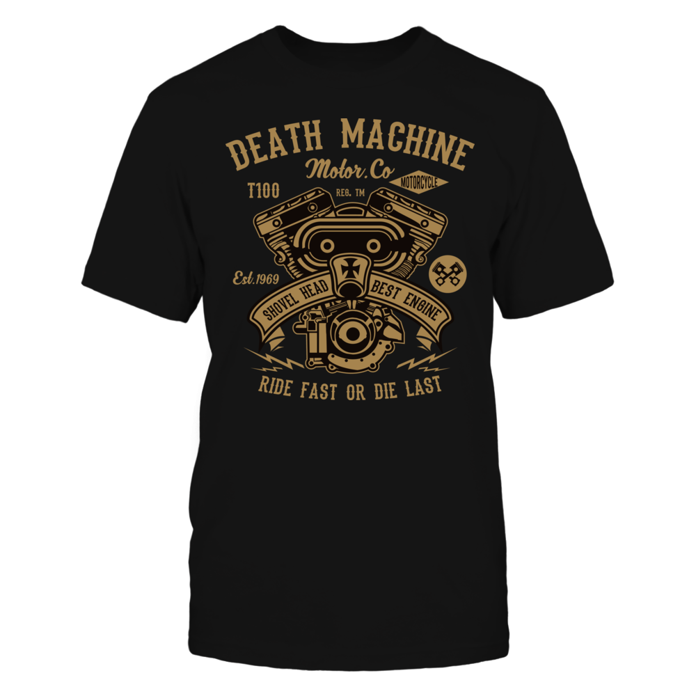 TShirt Hoodie Death Machine2 - Black FanPrint