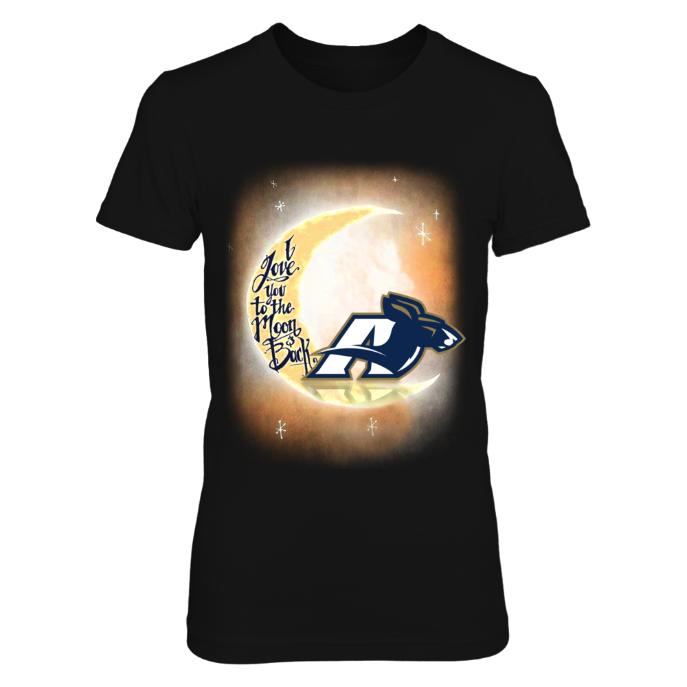 Akron Zips I LOVE AKRON TO THE MOON AND BACK FanPrint