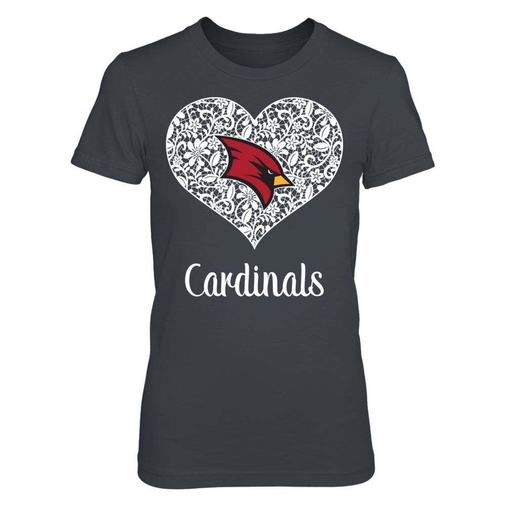 Saginaw Valley State Cardinals - Lace Heart Logo Front picture