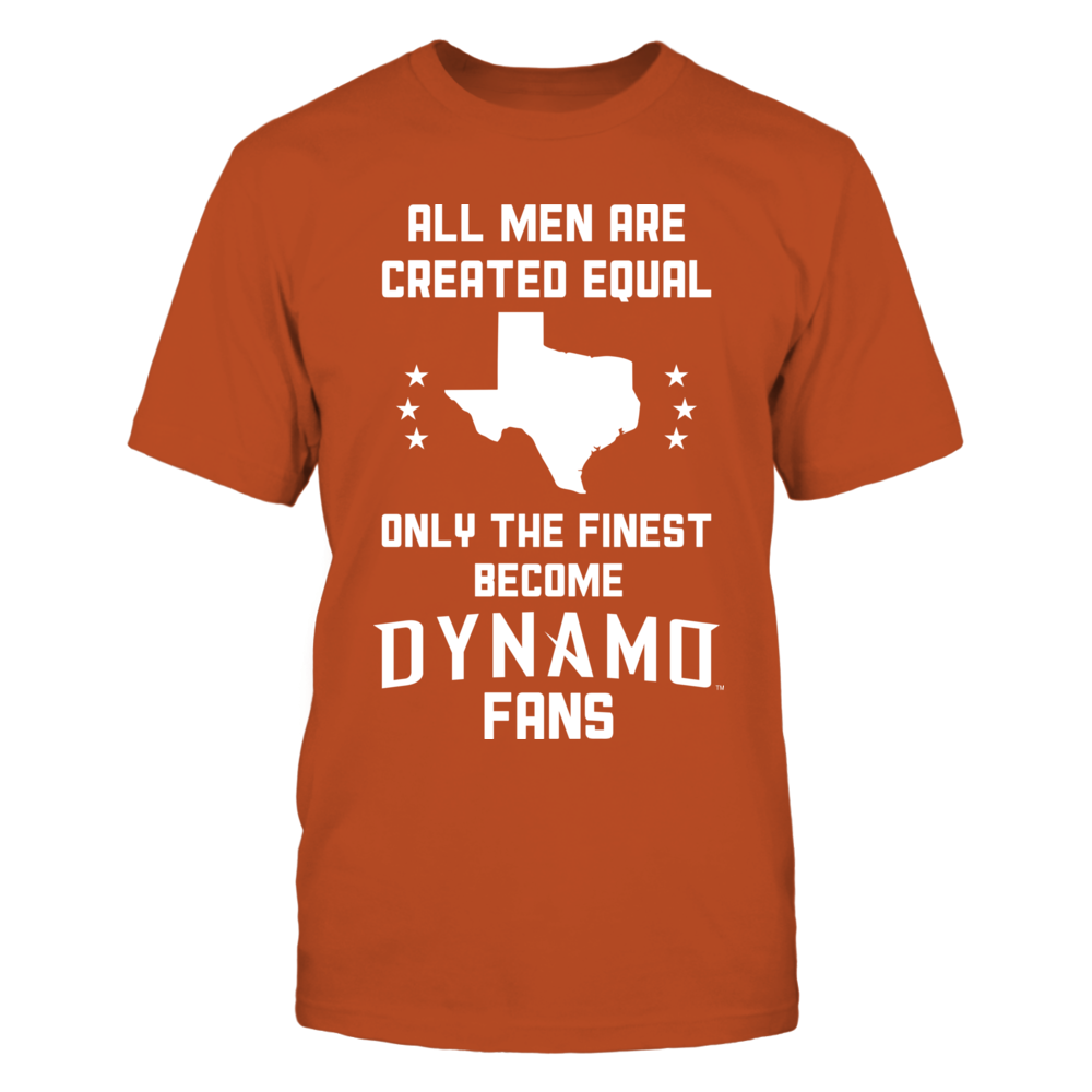 All men are created equal, Only the finest become the Dynamo (W) Front picture