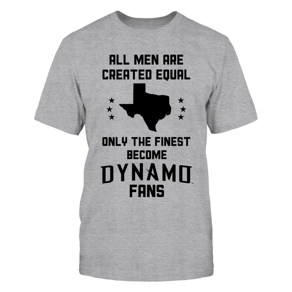 All men are created equal, Only the finest become the Dynamo (B) Front picture