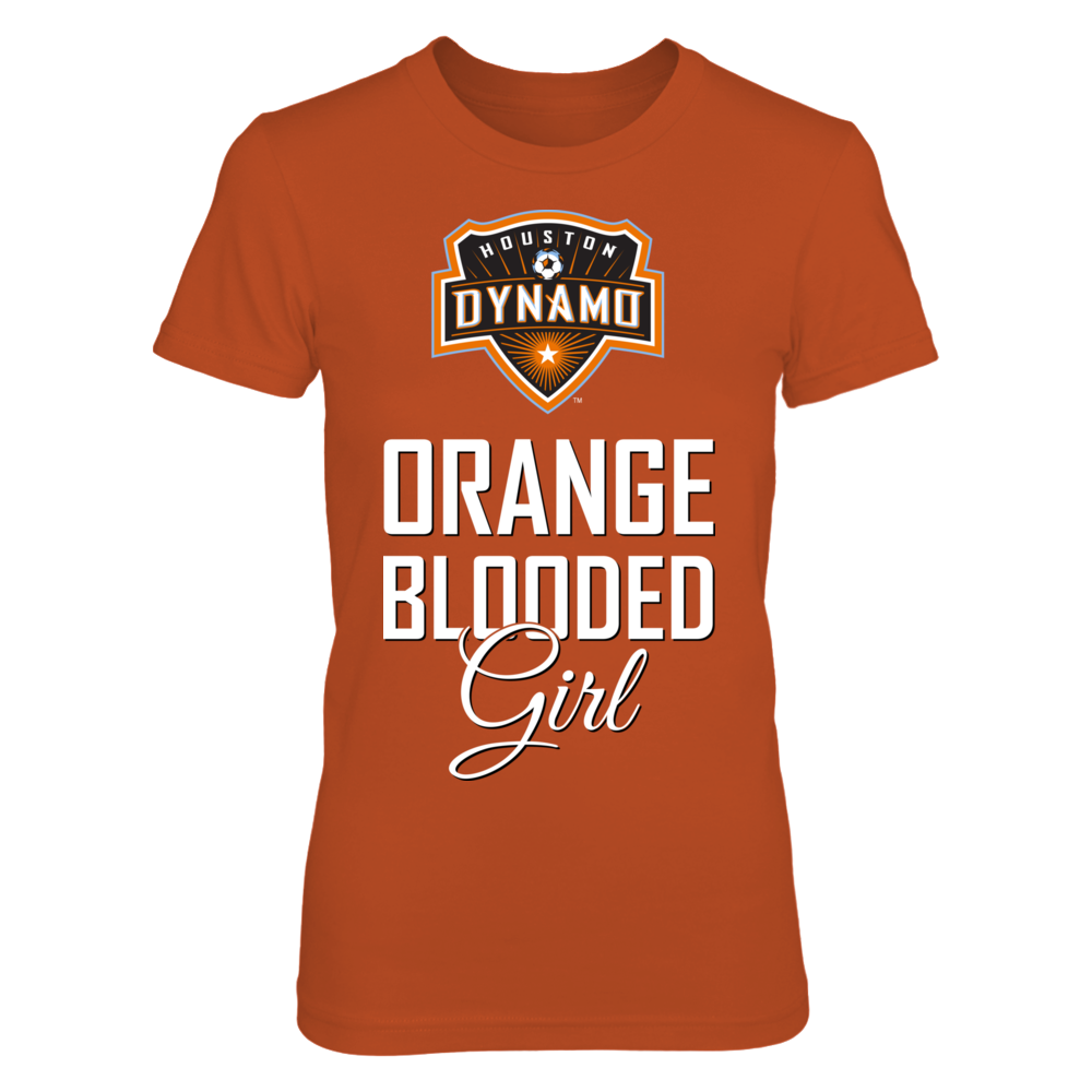 Houston Dynamo Orange Blooded girl  (W) FanPrint