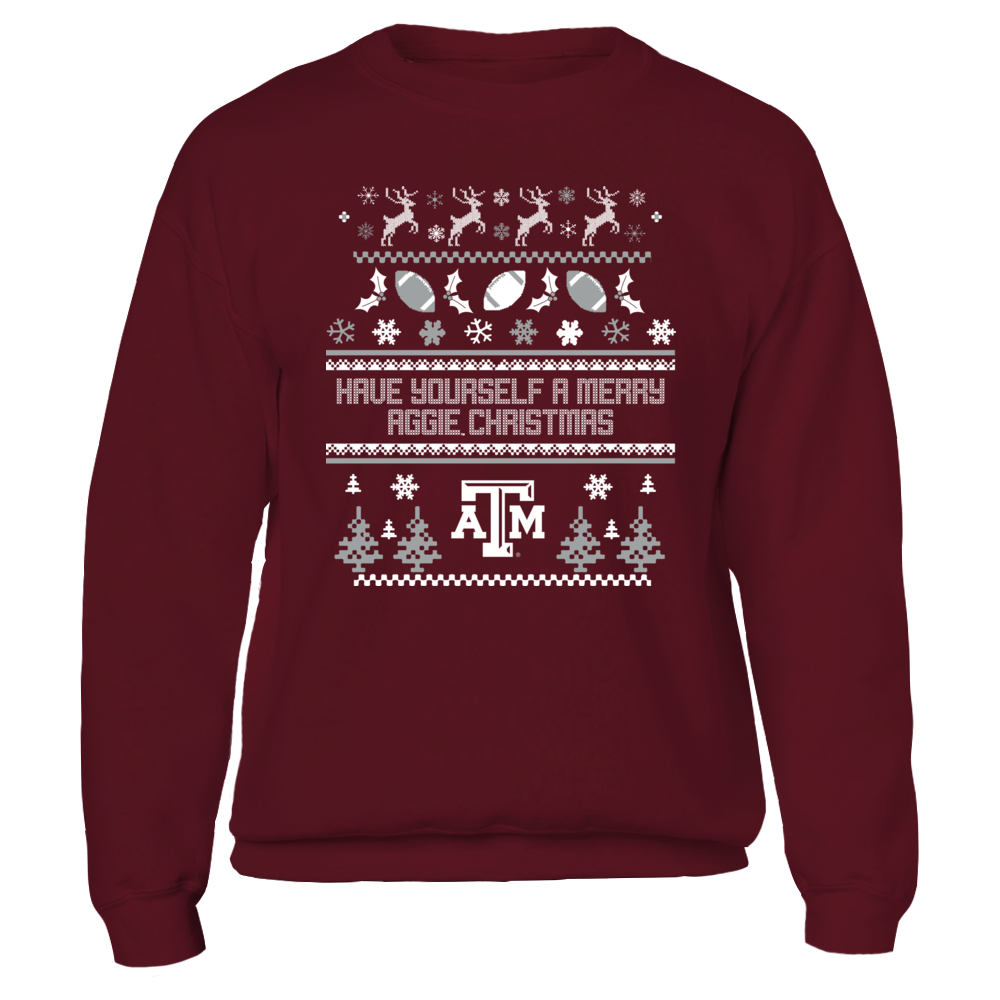 HAVE YOURSELF A MERRY AGGIE CHRISTMAS - TEXAS A&M AGGIES Front picture