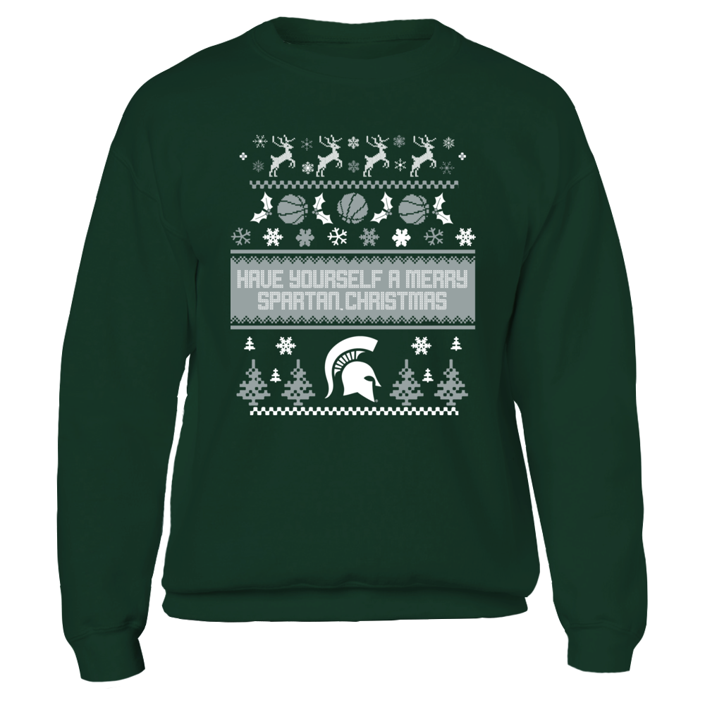 HAVE YOURSELF A MERRY SPARTAN CHRISTMAS - MICHIGAN STATE SPARTANS Front picture