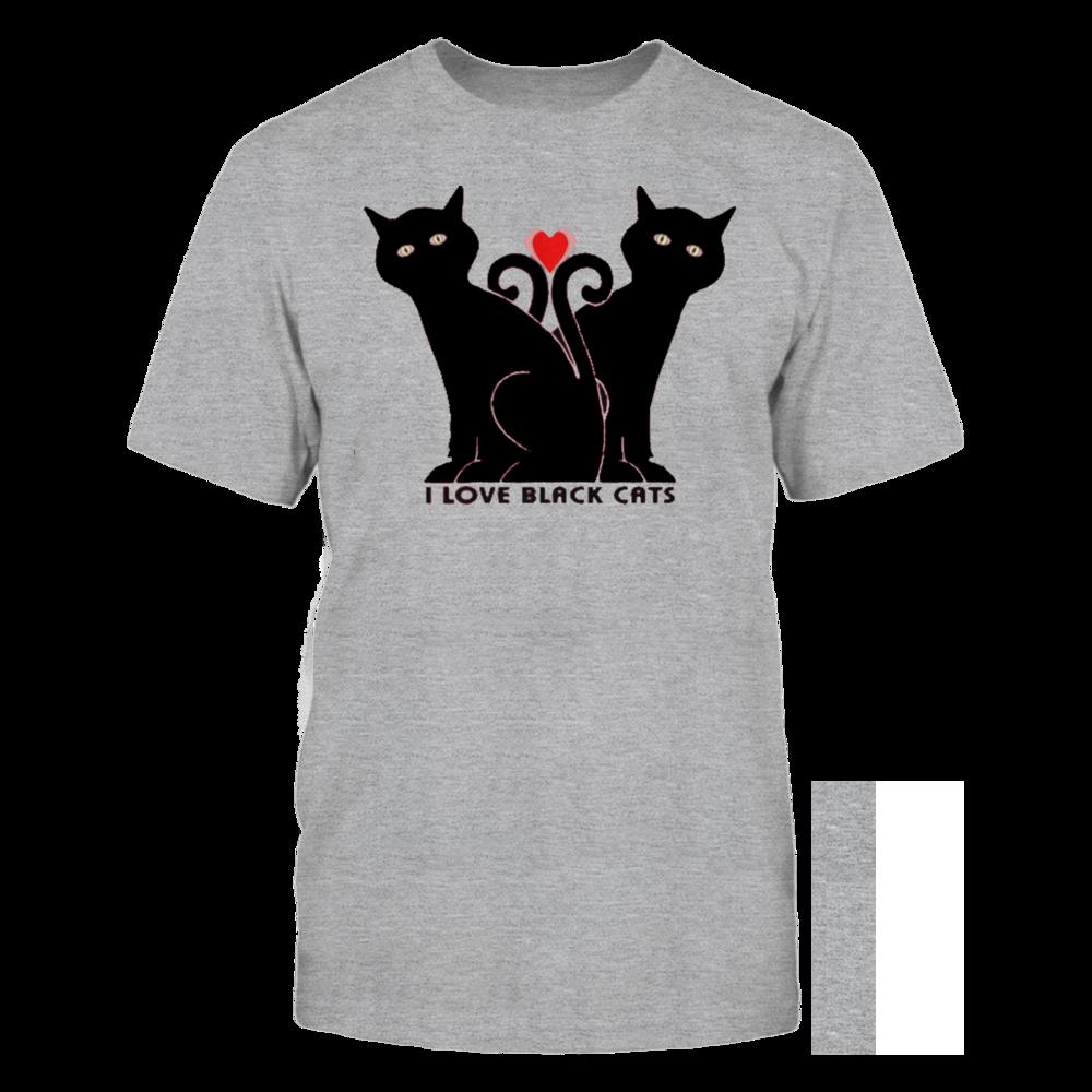 TShirt Hoodie I love black cats FanPrint
