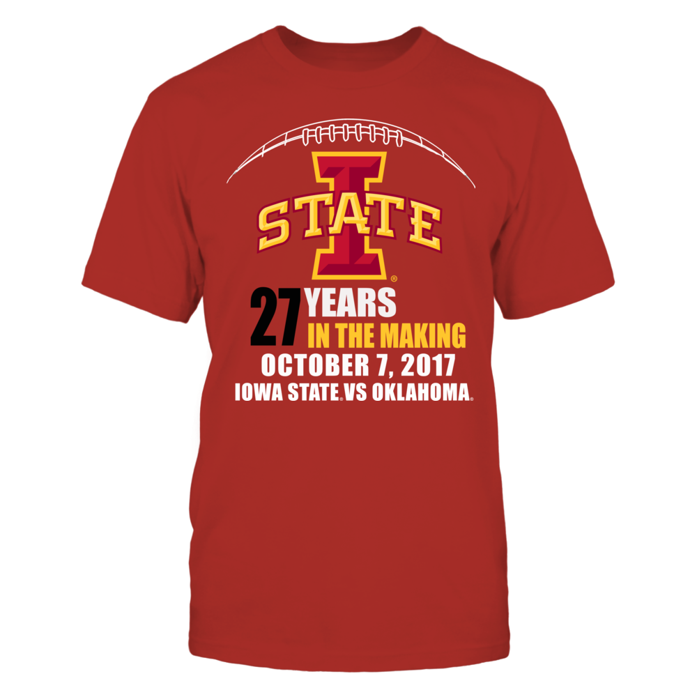 Iowa State Cyclones Iowa State Cylones Football - 27 Years in the Making Upset over Oklahoma FanPrint