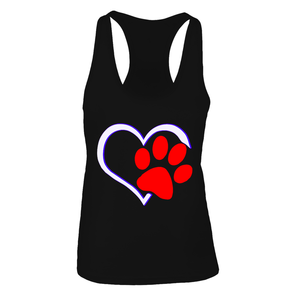 TShirt Hoodie paw heart tattoo dog and cat lover FanPrint