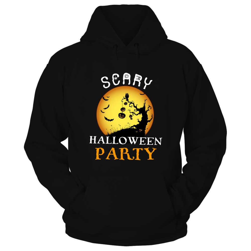 TShirt Hoodie Scary Halloween Party- Funny Halloween T-Shirt FanPrint