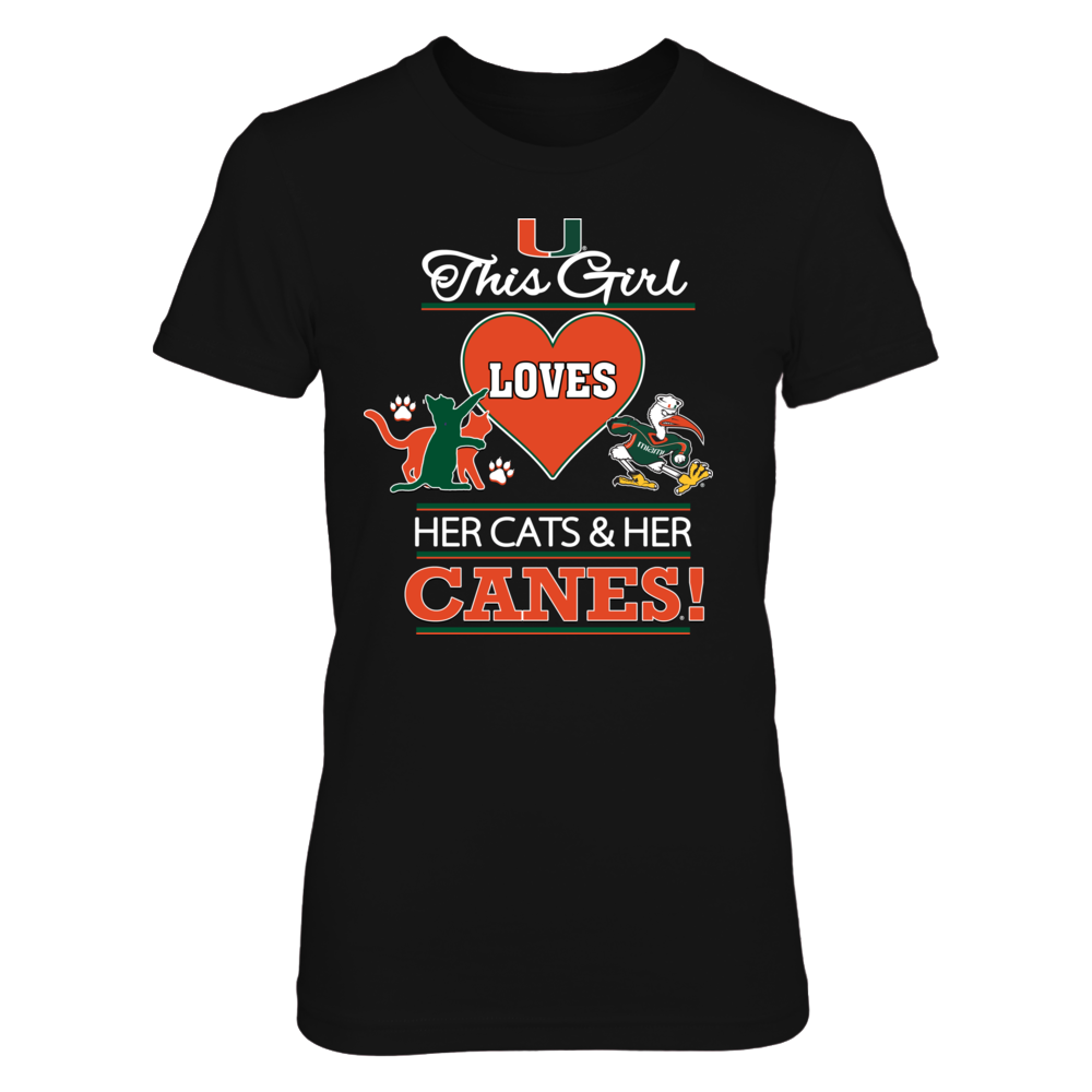 Miami Hurricanes Miami U This Girl Cats and Canes FanPrint