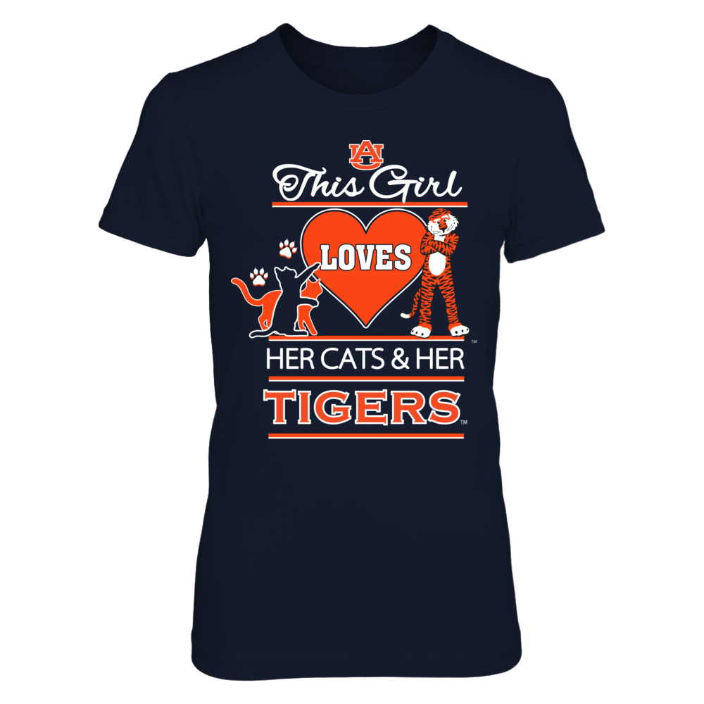 Auburn Tigers This Girl Loves Her Cats and Her Tigers FanPrint