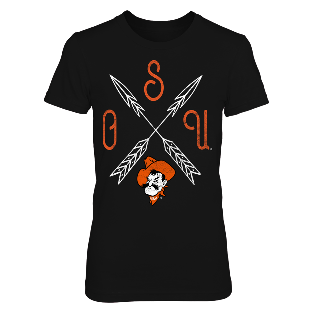 Oklahoma State Cowboys Ladies Tee Front picture