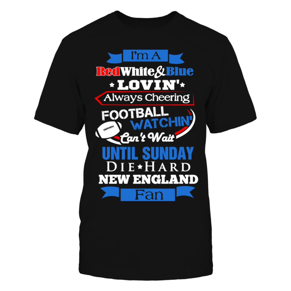 New england patriots fan football Club T-Shirt Front picture