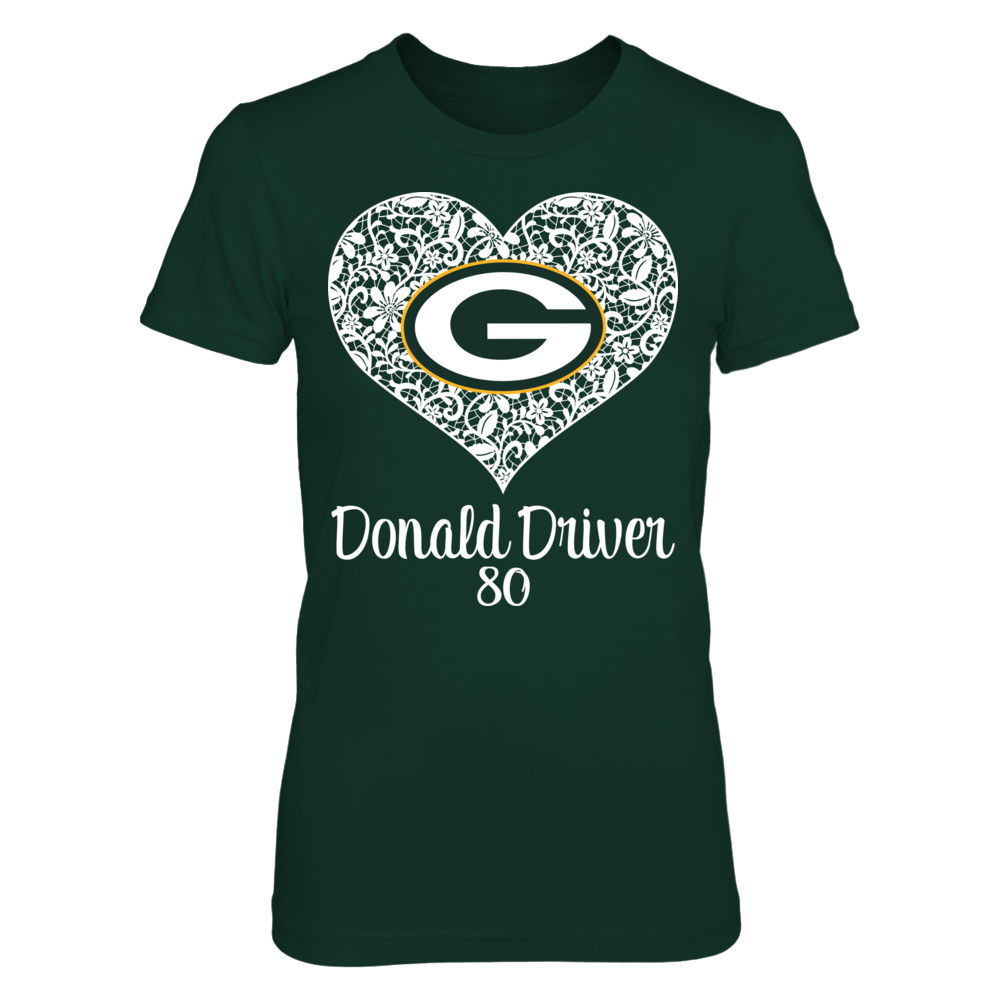Green Bay Packers Green Bay Packers - Lace Heart - Donald Driver FanPrint
