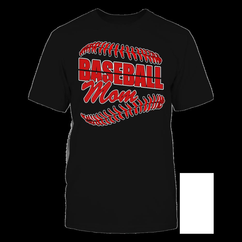 Women s Baseball Mama T Shirt Baseball Mom T Shir T-Shirt Front picture