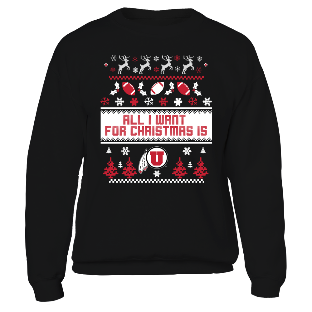 Utah Utes - Ugly Christmas Sweater Front picture