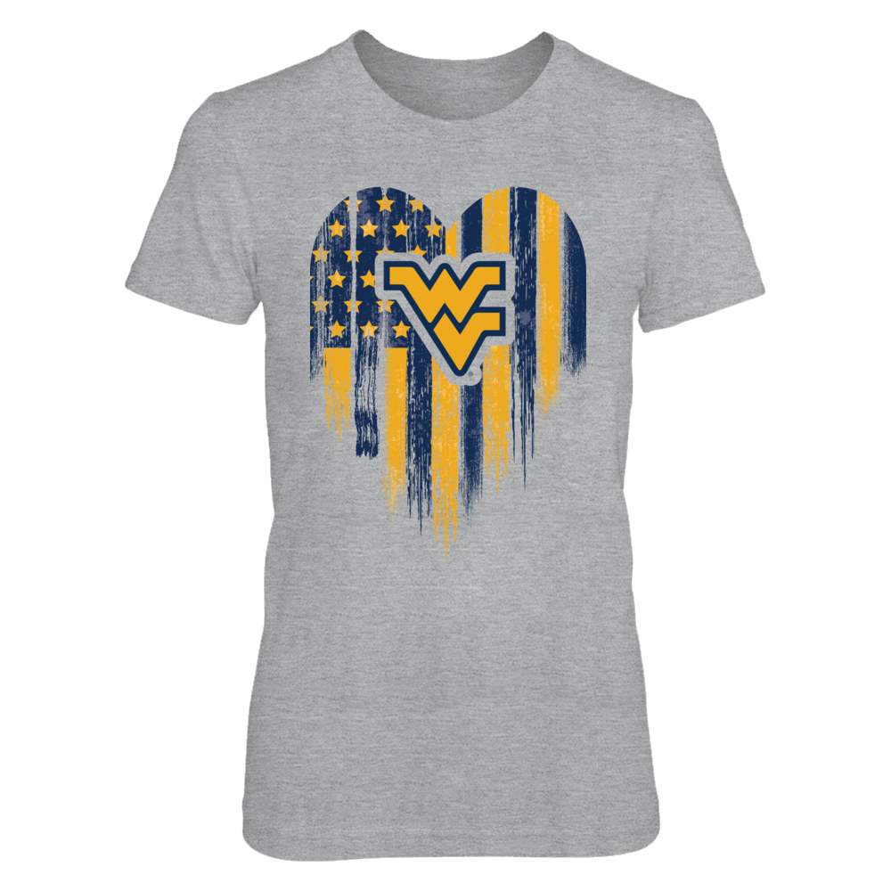 Grunge American Heart Flag - West Virginia WV Logo Front picture