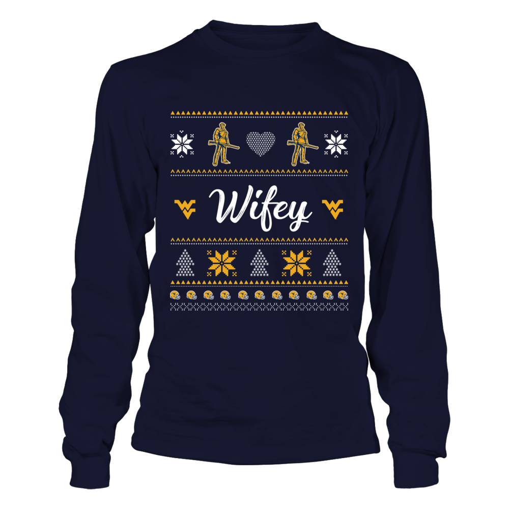 West Virginia Mountaineers - Wifey Ugly Sweaters Front picture