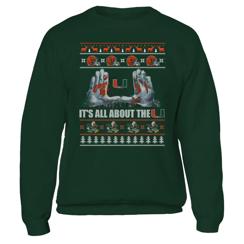 Miami Hurricanes - Team pattern ugly sweater Front picture