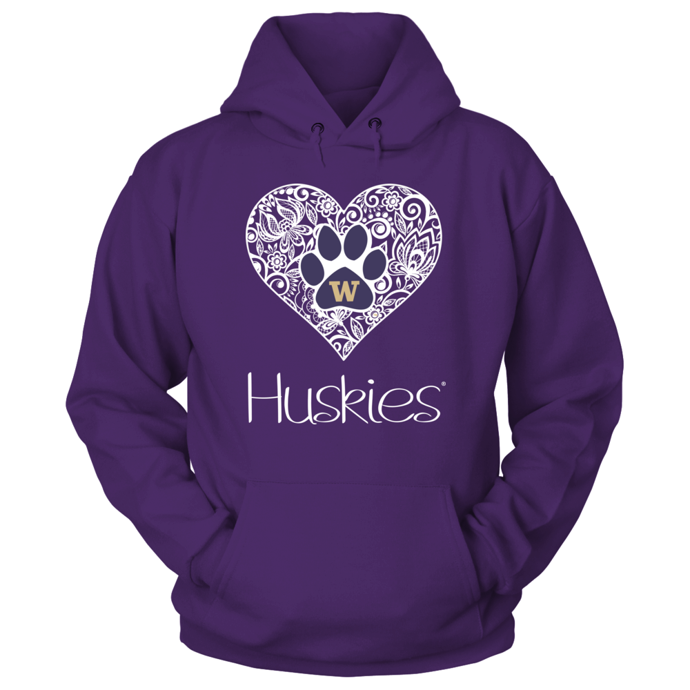Washington Huskies - Lace Heart With Logo Front picture
