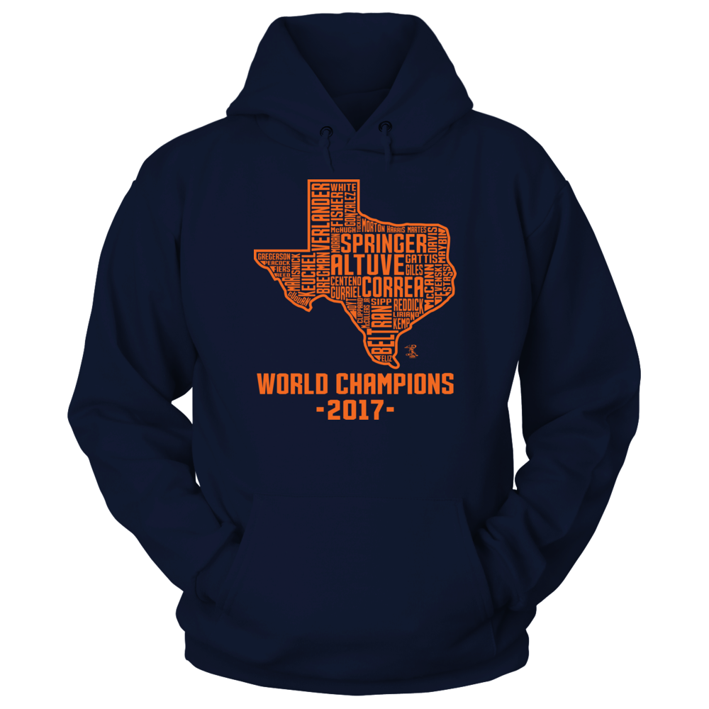 Jose Altuve - World Champions 2017 Houston State Outline Team Roster Front picture