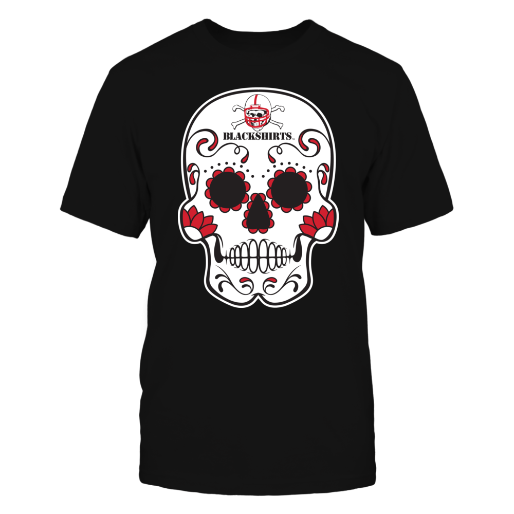Nebraska Cornhuskers - Sugar Skull Blackshirts Front picture