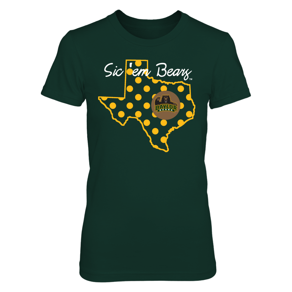 BEAUTIFUL DOTS - BAYLOR BEARS Front picture