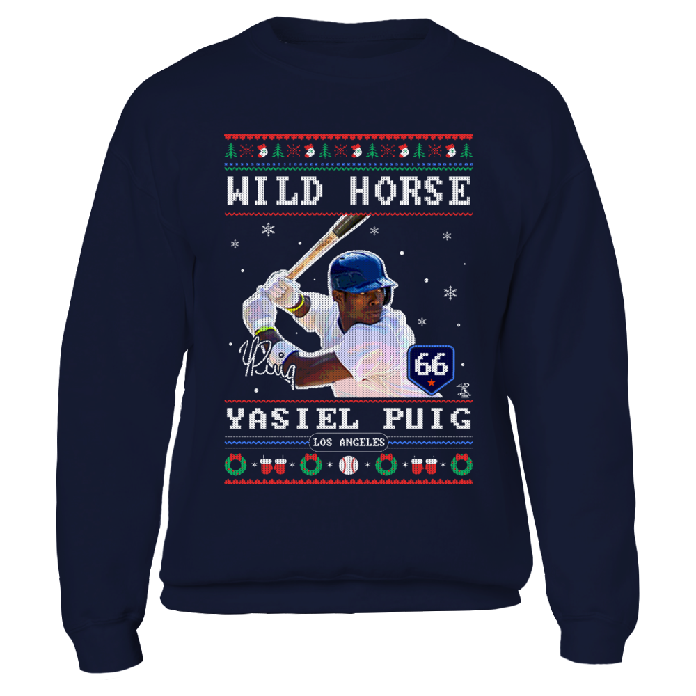 Yasiel Puig - Wild Horse - CHRISTMAS PLAYER Front picture