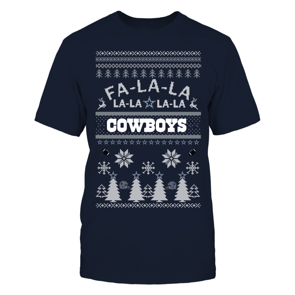 Dallas Cowboys Ugly Christmas Sweater | Fa La Cowboys Front picture