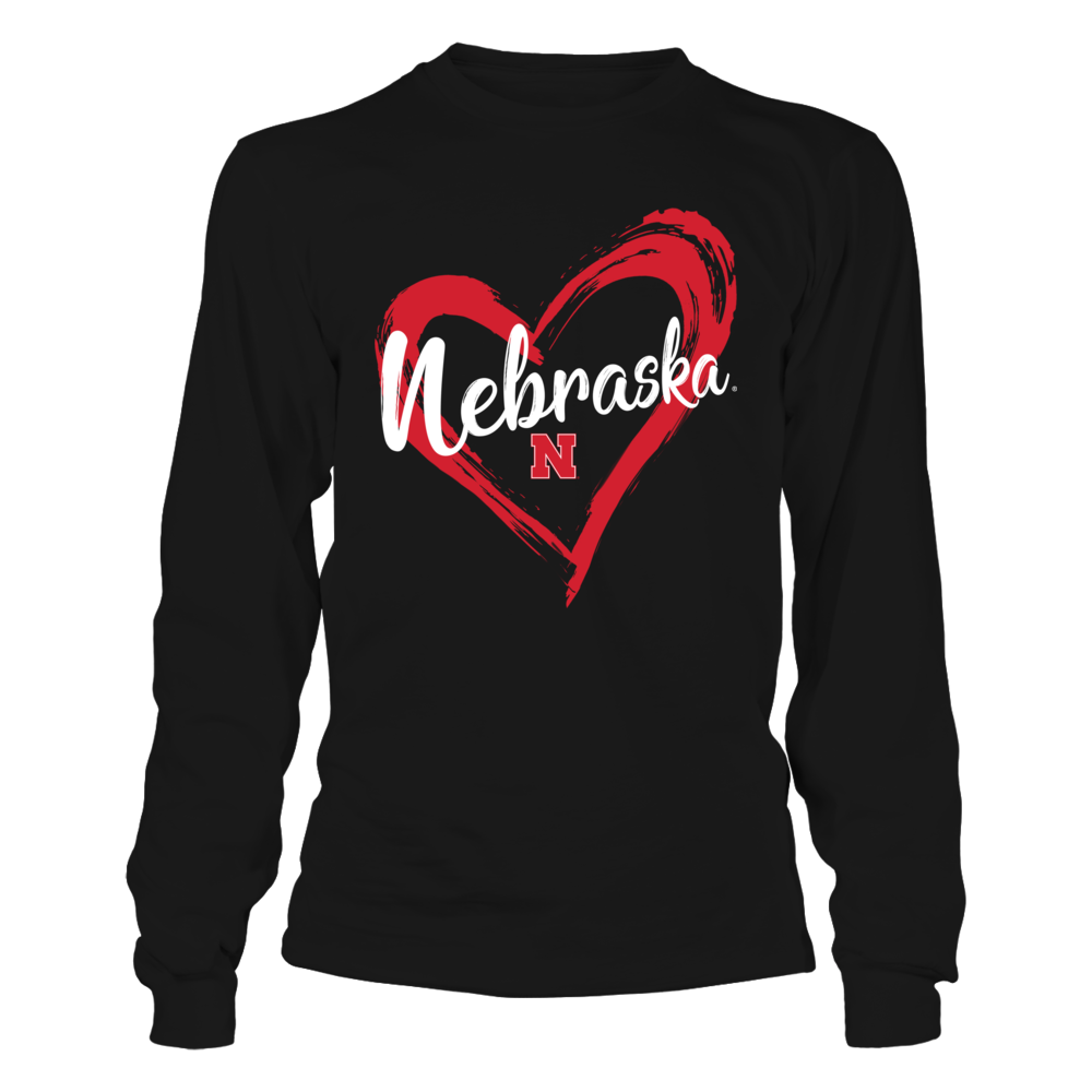 Nebraska Cornhuskers - Drawing Heart Front picture
