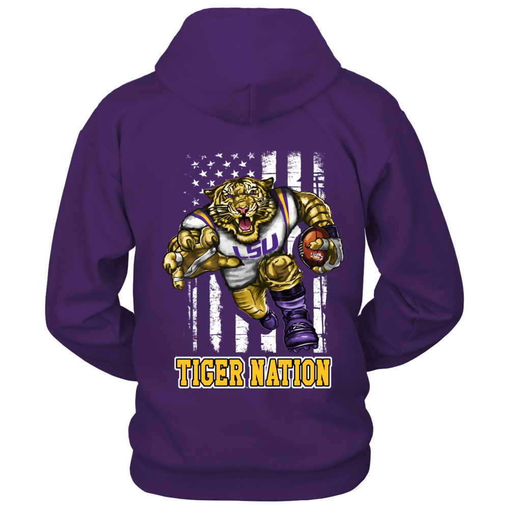 LSU Tigers - Mascot flag Back picture