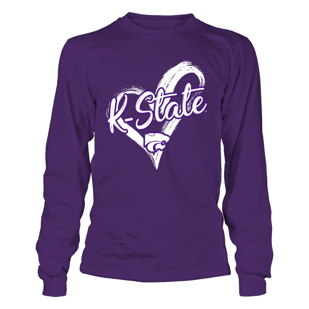 Kansas State Wildcats - Drawing Heart Front picture