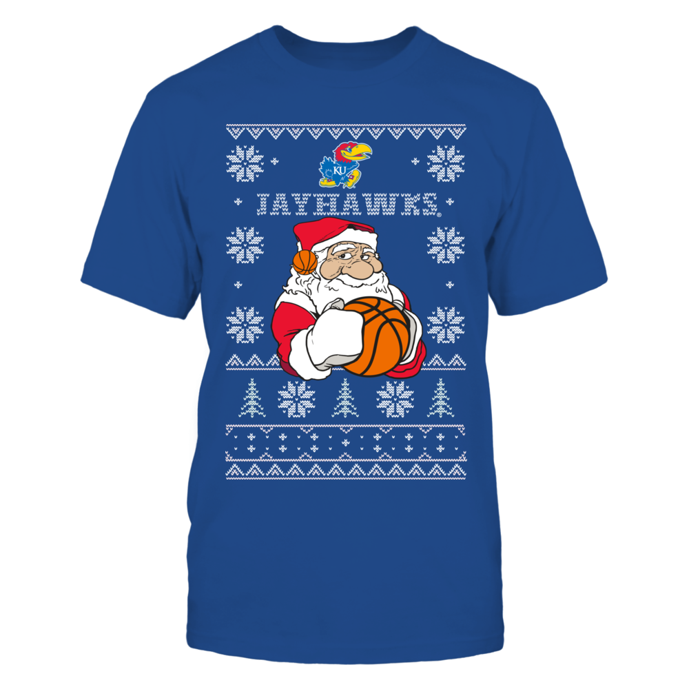 Kansas Jayhawks Basketball Christmas Front picture