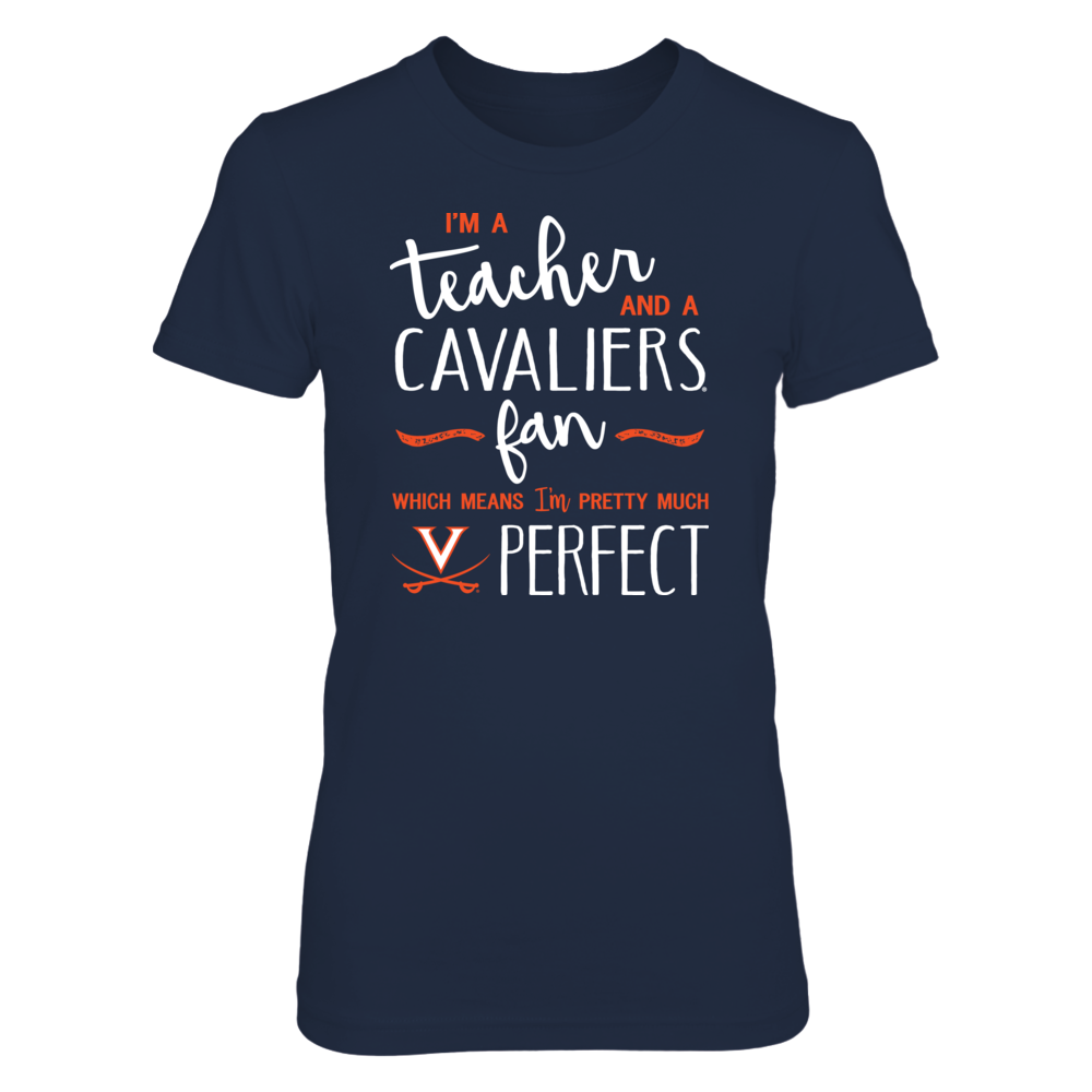 Perfect Teacher Virginia Cavaliers Fan T-Shirt | Tank | Hoodie Front picture