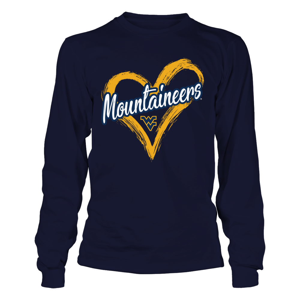 West Virginia Mountaineers - Drawing Heart Front picture