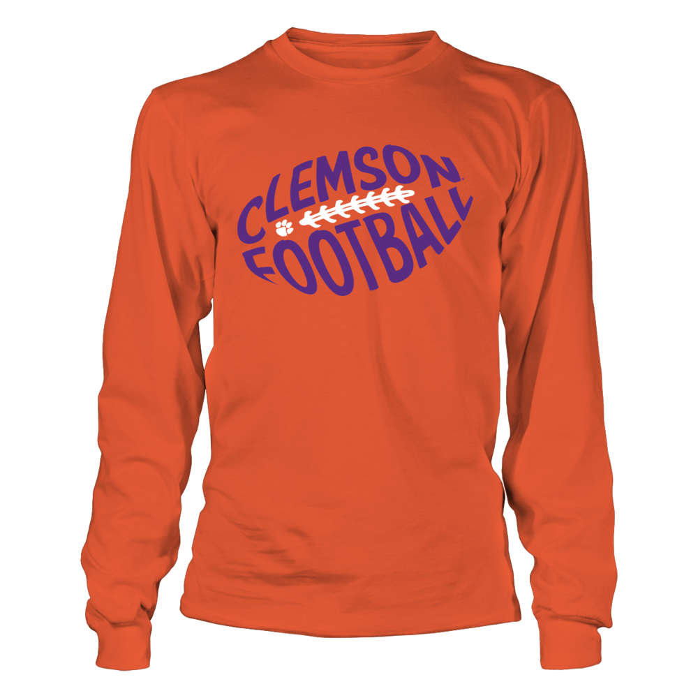 Clemson Tigers - Football Cloud Text Front picture
