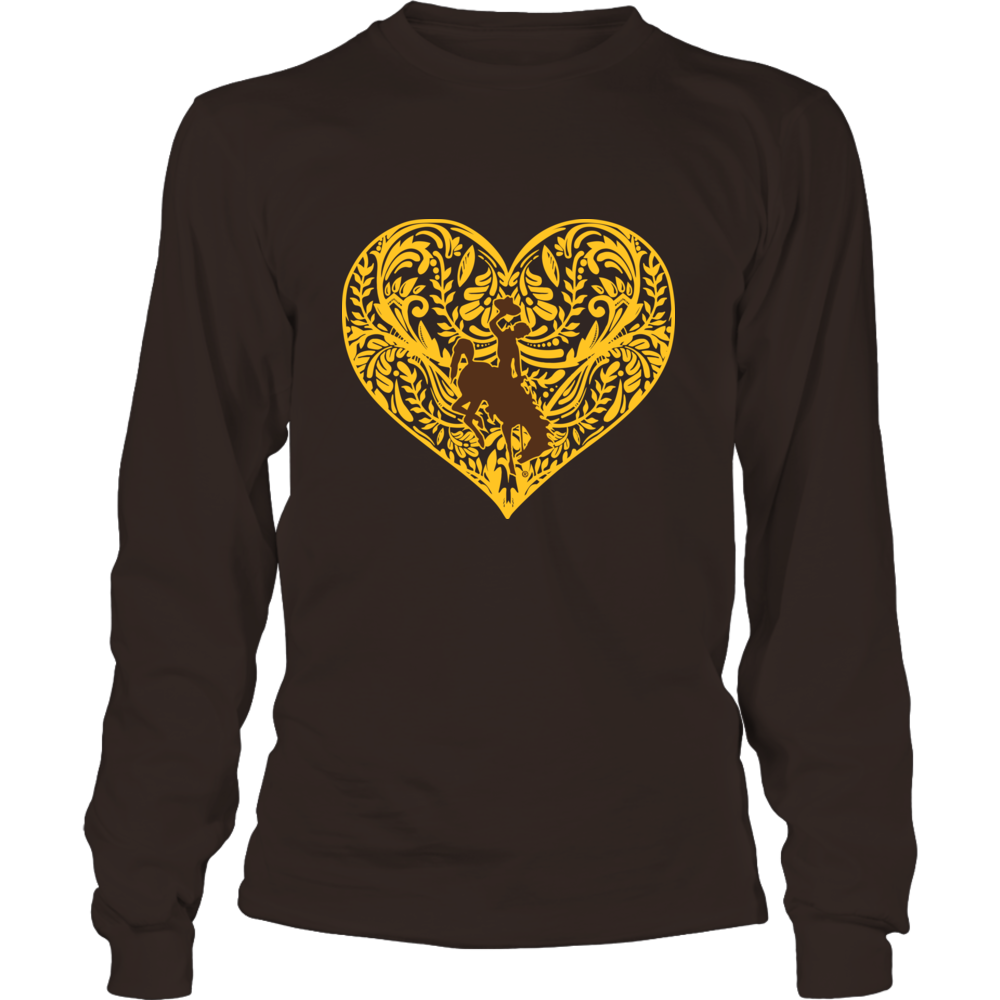 Wyoming Cowboys - Pattern Heart Front picture