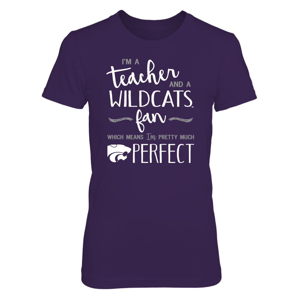 Perfect Teacher Kansas State Wildcats Fan T-Shirt | Tank | Hoodie Front picture