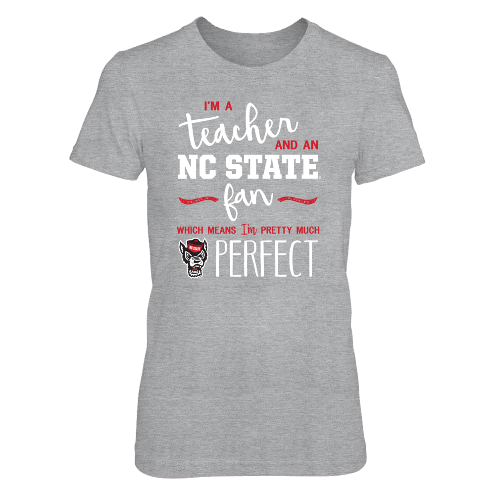 Perfect Teacher NC State Wolfpack Fan T-Shirt | Tank | Hoodie Front picture