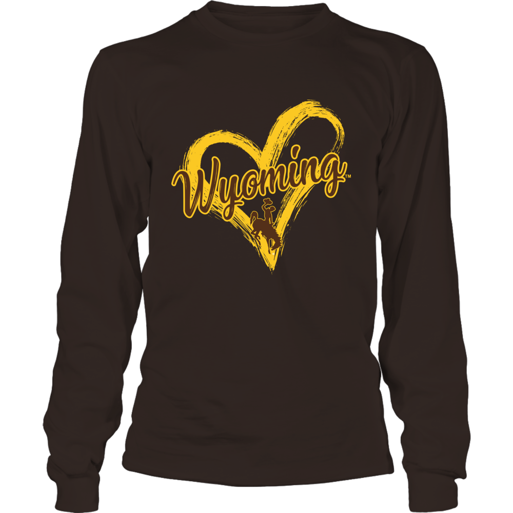 Wyoming Cowboys - Drawing Heart Front picture
