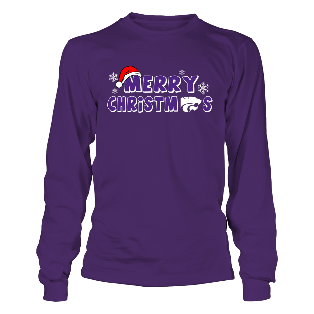 Kansas State Wildcats - Merry Christmas Logo Front picture