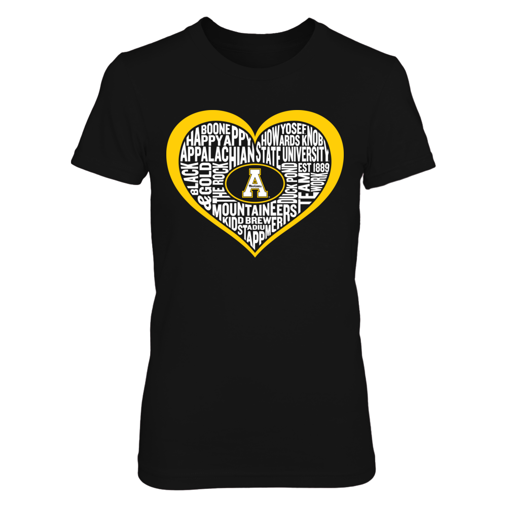 Appalachian State - Word Heart Cloud Front picture