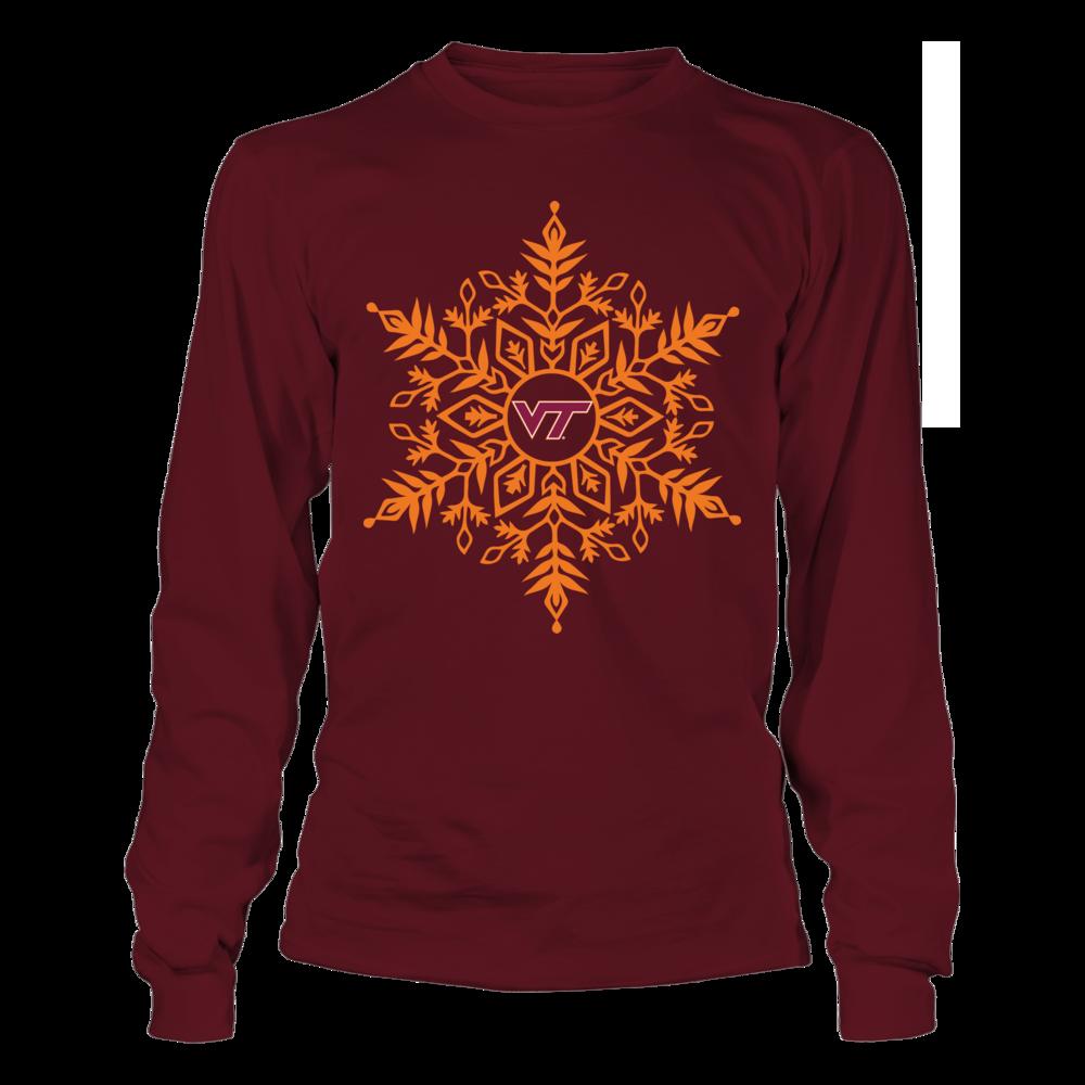 Virginia Tech Hokies - Snowflake Logo Front picture