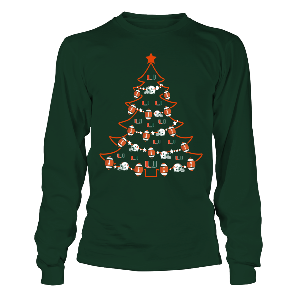 Miami Hurricanes - Football Xmas Tree Front picture