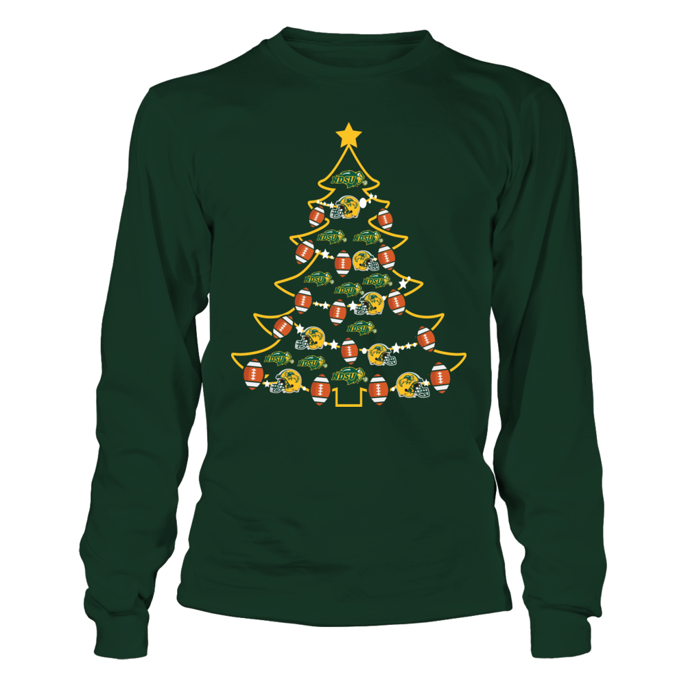 North Dakota State Bison - Football Xmas Tree Front picture