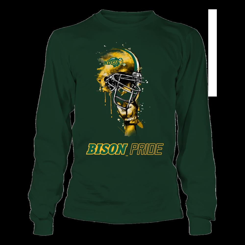 North Dakota State Bison - Rising Helmet Front picture