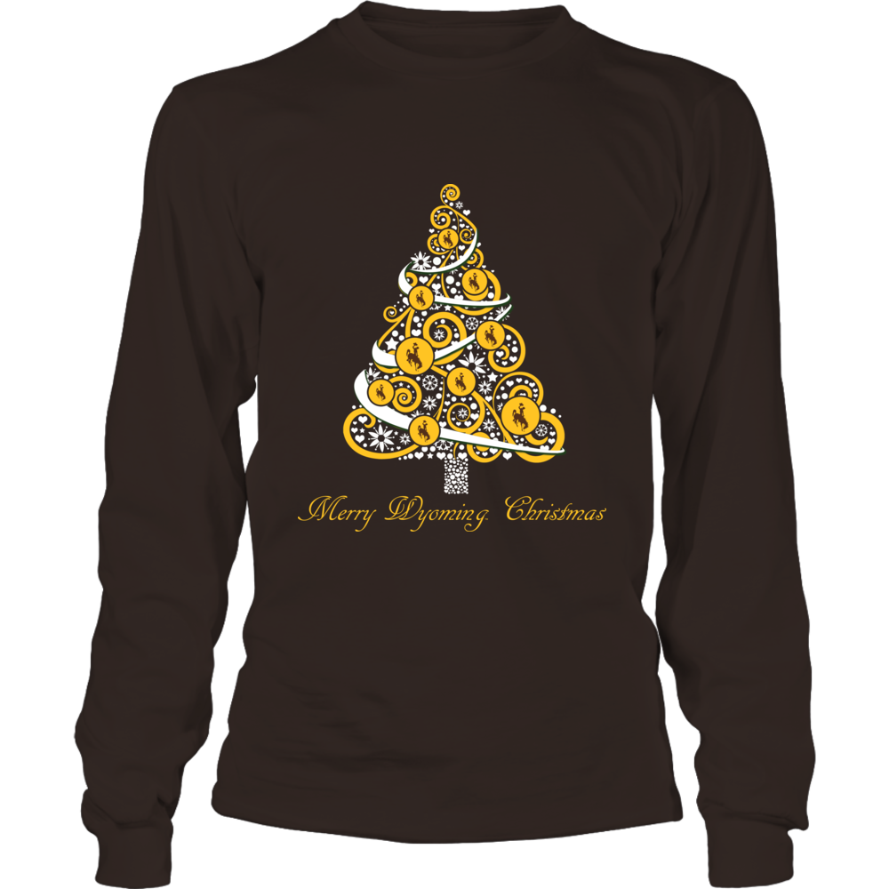 Wyoming Cowboys - Logo Christmas Tree Front picture