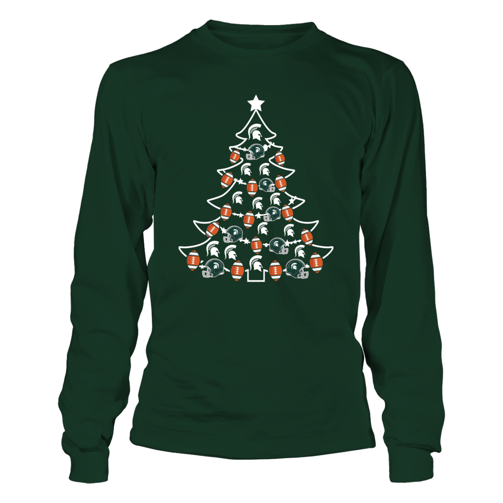 Michigan State Spartans - Football Xmas Tree Front picture