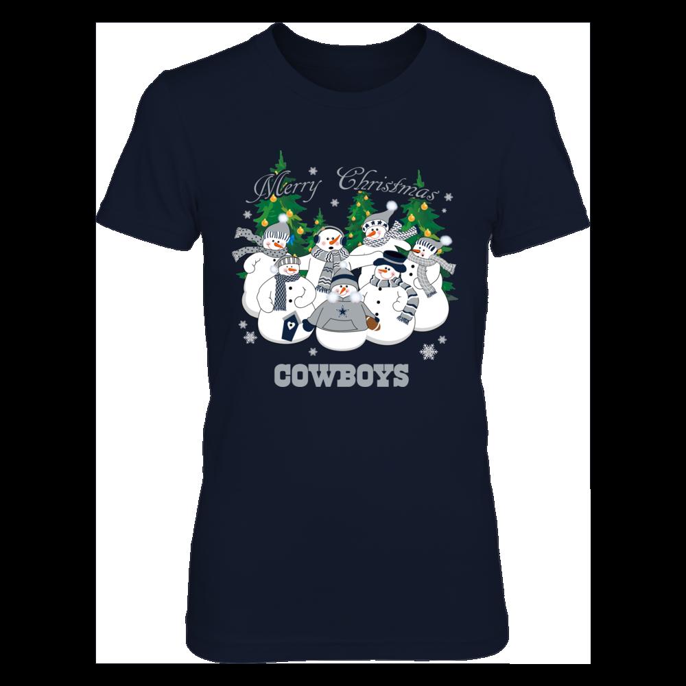 Dallas Cowboys - Merry Christmas Snowman Front picture