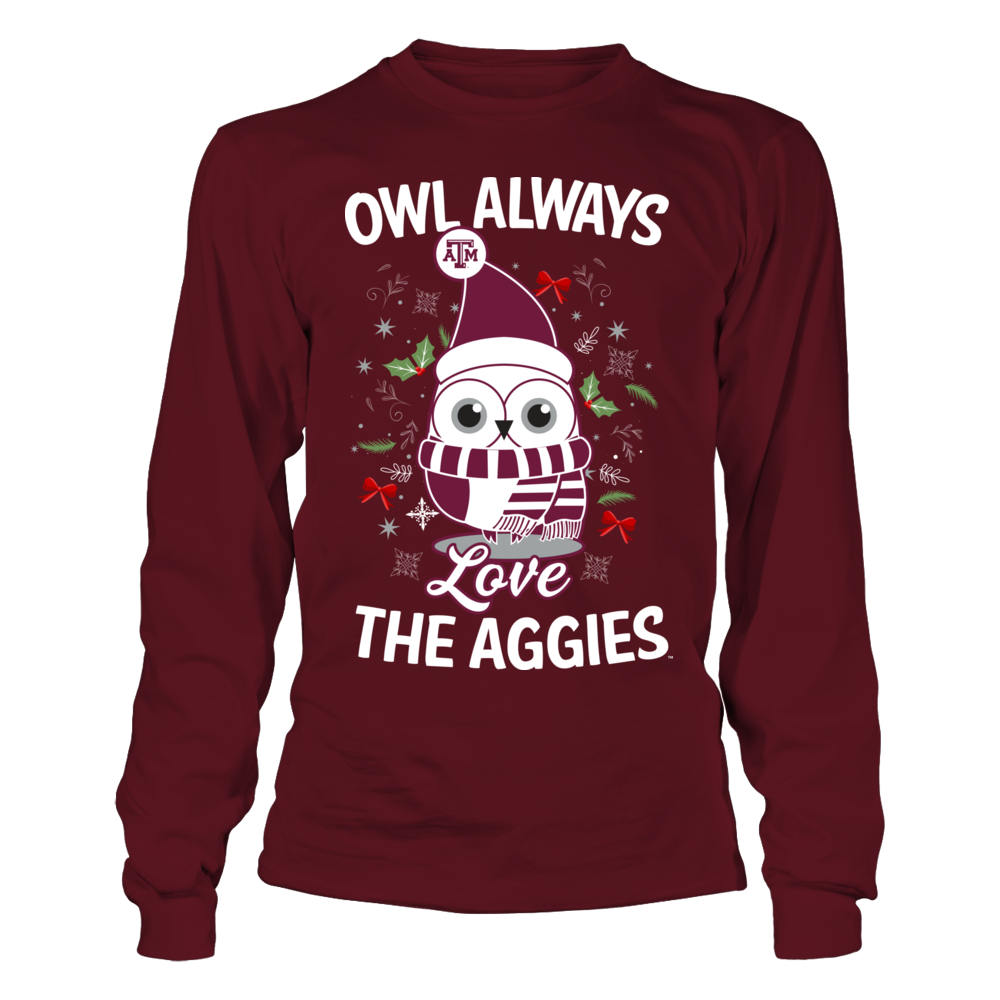 Texas A&M Aggies - Owl Always Christmas Front picture